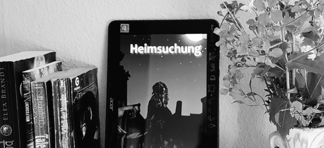 """Stilleben: Shelfie mit Blogroman """"Heimsuchung"""""""
